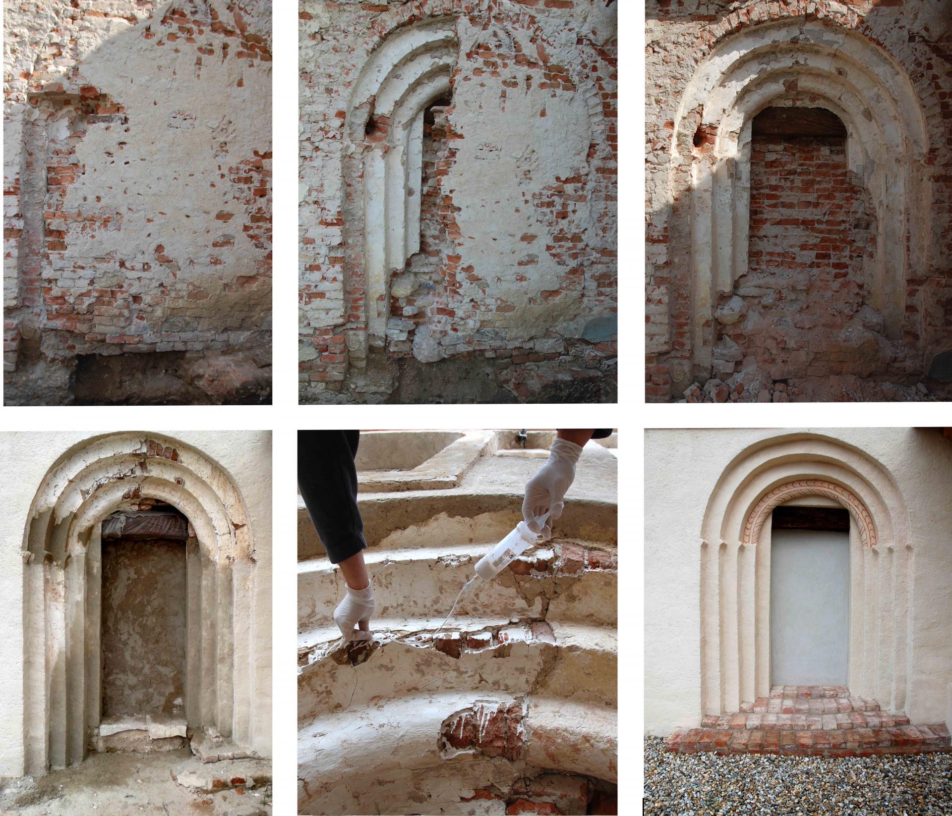 Reštaurovanie románskeho portálu Rest-art